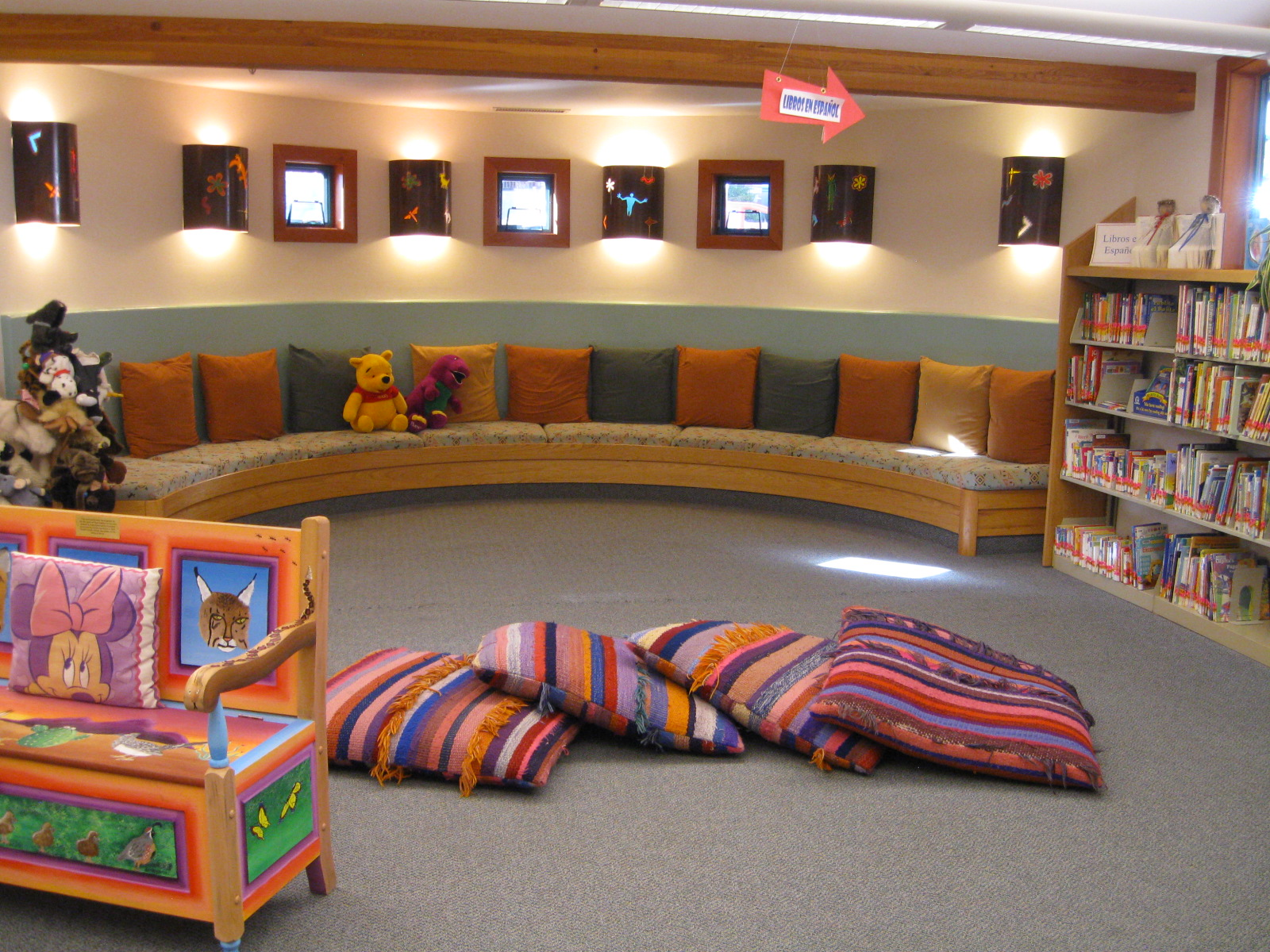 Big Pillows To Sit On The Floor : Stunning Sedona Public Library The Librarian is In