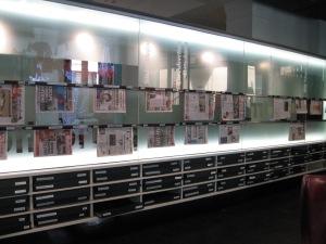 Snazzy newspaper storage