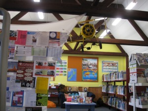 Looking into Children's, the sail is on the left