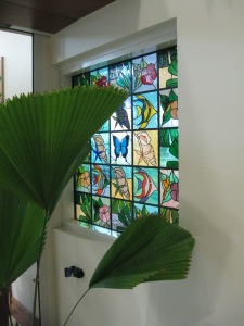 Tropical fish are the perfect subject for stained glass
