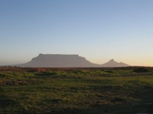The library and town are named for their wonderful vista of Cape Town's famous Table Mountain (on left w/ Lion's Head and Signal Hill to the right)
