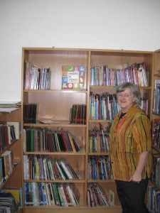 Linda Barnard by some Xhosa books