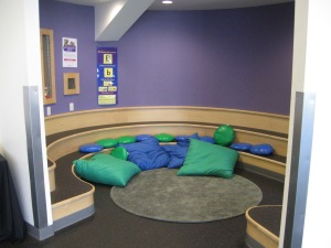 A cozy setting for smaller storytimes