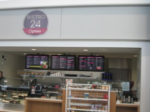 Bistro 24 Express serves breakfast and light meals
