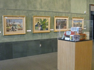 Art and artifacts in the lobby