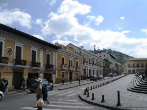 El Panecillo from Quito's Centro Historico