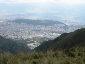 Quito from El Rucu Pichincha