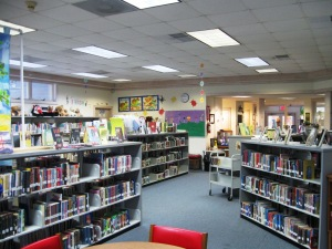 Looking from Children's into the main part of the library