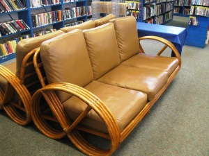 Cushy bamboo settees