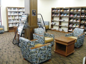 Reading area by the periodicals