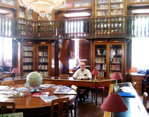 My husband in the most beautiful reading room I've ever seen in a public library