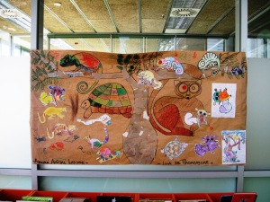 Talented tots - the mosaic theme recalls some of Gaudí's pieces