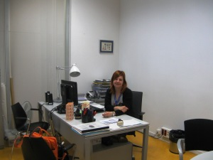 Branch director Mònica in her office