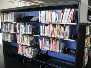 Vivid nonfiction shelves