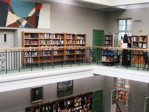Upper part of the atrium